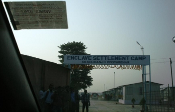 Entrance of the Camp at Mekhliganj for the settlers