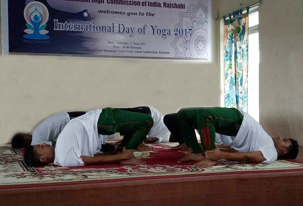 Celebration of International Day of Yoga, 2017 in Rajshahi