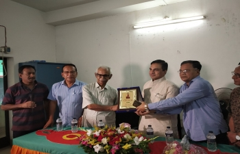 Members of Pabna Press Club felicitated Shri Sanjeev Kumar Bhati, Assistant High Commissioner of India on April 13, 2019