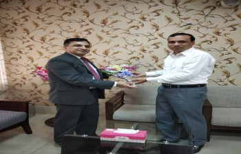 Assistant High Commissioner of India, Shri Sanjeev Kumar Bhati called on Deputy Commissioner of Rajshahi District on April 2, 2019 and deliberated upon issues of mutual interest.