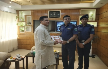 Assistant High Commissioner of India, Shri Sanjeev Kumar Bhati visited Pabna District in his jurisdiction and met its Superintendent of Police on April 13, 2019