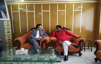 Assistant High Commissioner of India , Shri Sanjeev Kumar Bhati called on Rajshahi Development Authority Chairman on April 15, 2019