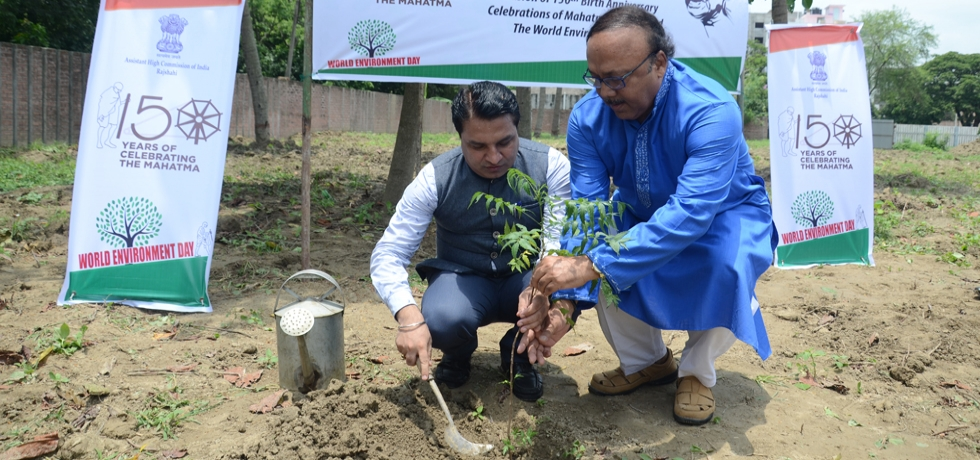 Planting of 150 trees on the occasion of 150th Birth Anniversary Celebrations of Mahatma Gandhi and the World Environment Day