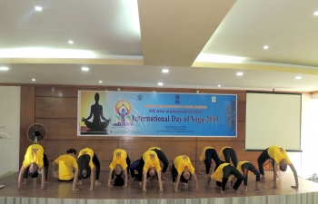 The 5th International Day of Yoga Celebrations in Rangpur, a city under the jurisdiction of the Assistant High Commission of India in Rajshahi, on June 15, 2019