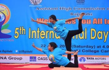 Celebration of the 5th International Day of Yoga in Rajshahi on June 22, 2019