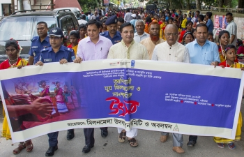 The Assistant High Commissioner of India in Rajshahi, Shri Sanjeev Kumar Bhati visited Gaibandha on September 14, 2019 to participate in a cultural youth festival where he addressed the gathering, flagged off a rally and watched the cultural performances by local youth.