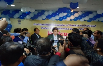 Assistant High Commission of India and Indian Visa Application Centre (IVAC) in Rajshahi felicitated the 2,50,000th visa applicant of 2019 under its jurisdiction.