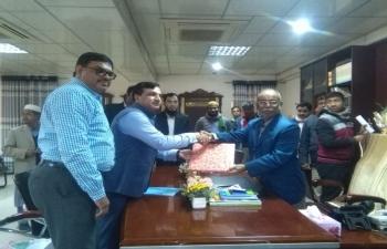 Met the Mayor of Rangpur