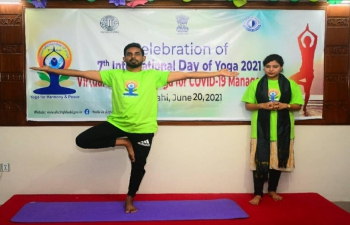 To highlight contribution of #YogaForWellness, the Assistant High Commission of India in Rajshahi, in association with Quantum Foundation, organized a Virtual Session on 'Yoga for COVID-19 Management' on June 20, 2021.  The Yoga session was conducted by Ms. Nowrin Ahmed as part of #IDY2021 celebrations and it was very well received by the audience.