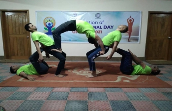 The 7th International Day of Yoga was celebrated by the officials of the Assistant High Commission of India in Rajshahi on June 21, 2021 with lot of enthusiasm.  Presented are some of the highlights of #IDY2021 celebrations in the Chancery premises