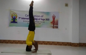 Sri Sri Kendriyo Loknath Mandir, Ganeshtala, Royshaheb Bari, Dinajpur organized a Yoga session in their premises on June 21, 2021 to celebrate #IDY2021.   Assistant High Commissioner of India in Rajshahi, Mr. Sanjeev Kumar Bhati conveyed his thanks to the Temple Committee for their efforts to join this mass movement for health.