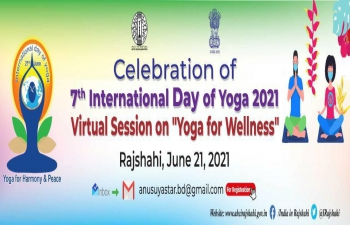 Celebration of #IDY2021 continued with another online session on #YogaForWellness conducted by ITEC-Yoga Alumna, Ms. Anusuya Sarkar on June 21 , after having conducted two successful sessions on June 13 and 15, 2021